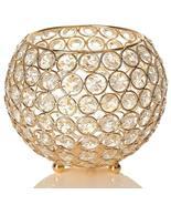 VinciGANT Crystal Bowl Candle Holder, Gold (KM) - $9.50