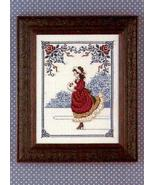 Winter Rose cross stitch Lavendar & Lace Marilyn Leavitt-Imblum - $10.80