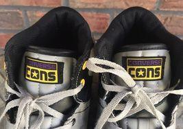 Cons Converse Men Sz 10 Women Sz 12 High Top Shoes Black Gray Yellow Tennis Shoe image 6