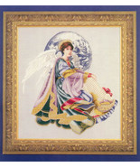 World Peace Angel cross stitch Lavendar & Lace Marilyn Leavitt-Imblum - $12.60