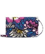 NWT African Violet Strap Wallet String Convertible Crossbody Vera Bradley - $56.99