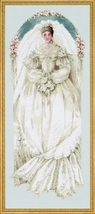 White Lace cross stitch Lavendar & Lace Marilyn Leavitt-Imblum - $12.60