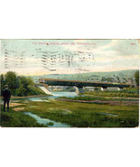 Old Wagon Bridge Towanda Pennsylvania Vintage 1908 Post Card - $6.00