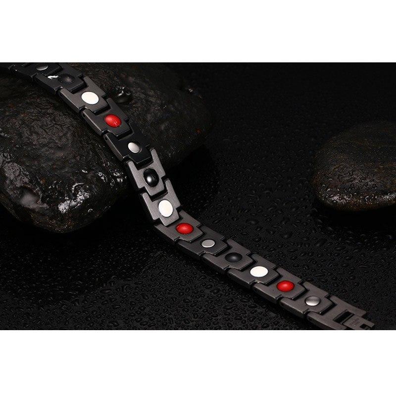 Health Energy Bracelet Bangle for Men Stainless Steel Bio Magnetic Male
