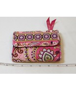 Vera Bradley wallet clutch id coin womens ladies Very Berry Paisley preo... - $21.37