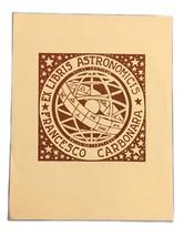 Ex Libris Exlibris Bookplate Astronomicis Francesco Carbonara AR Polus A... - $29.69