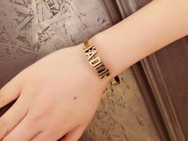 AUTH Christian Dior 2019 J'ADIOR AGED GOLD BRACELET CUFF BANGLE image 13
