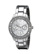 New Relic Women's Sophia Crystal Stainless Steel Chronograph Watch #ZR15739 - $83.84