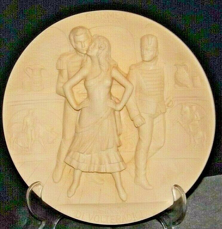"""""""Carmen"""" Di Volteradici Commemorative Plate by Gene Ruggeri AA20-CP2330 Vintage"""