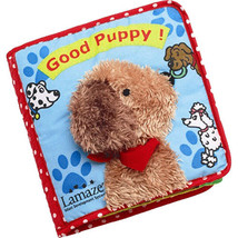 Lamaze Good Puppy Cloth Soft Book Touch and Feel Infant Development System - $12.90