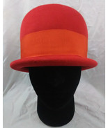Henry Pollak New York NY Ritz Flapper Hat Red Wool Vintage 1950s - $39.59