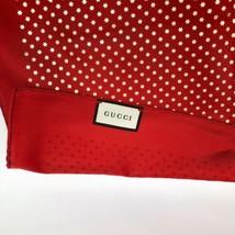 Gucci Guccy Stars Foulard Twill 100% Silk Scarf-Red NWT - $290.24
