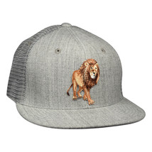 Lion Trucker Hat by LET'S BE IRIE - Heather Grey Snapback - £16.01 GBP