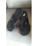 Nike Celso South Beach Black Flip Flops Thongs 344087 Womens Size 8 Euro 39 - $20.00