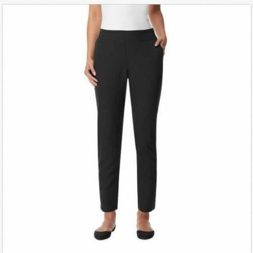 New 32 Degrees Womens Pants Black Ankle Length Stretch Pull-On, Black