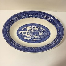 "Oval Vegetable Bowl Blue Willow Homer Laughlin 9.25"" - $14.50"
