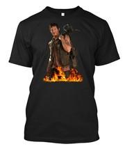 daryl dixon walking dead Black - Custom Men's Black T-Shirt - $17.99+