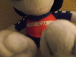 "Met Life Racing Snoopy ""Peanuts""  Sitting Plush Doll image 2"