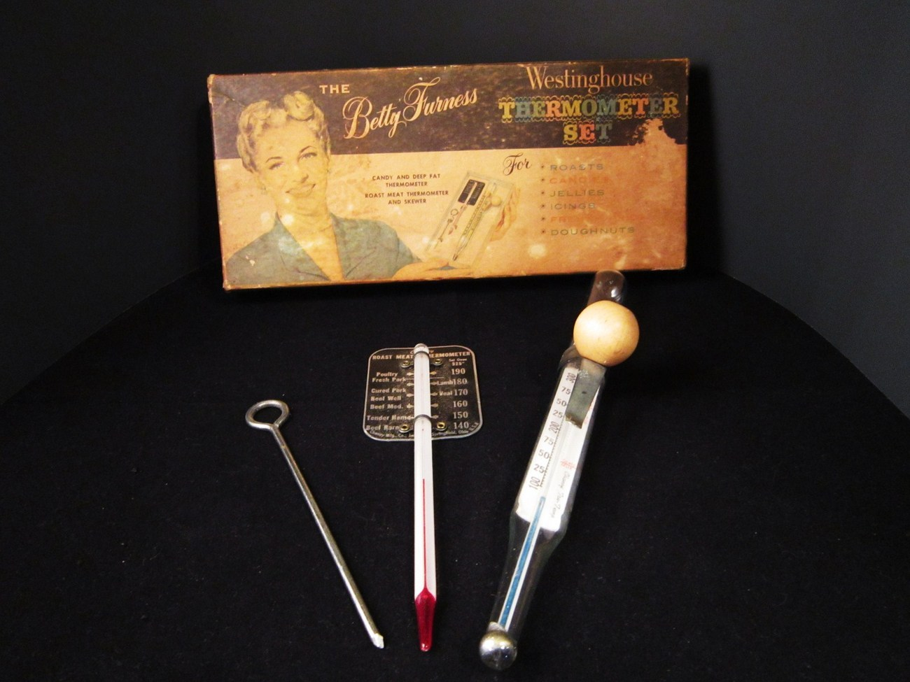 Chaney TruTemp Thermometers 1950s Betty Furness Westinghouse Made USA