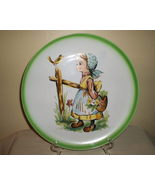 Giftcraft Plate Little Girl Talking Talking to ... - $13.95