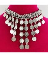 Vintage Sarah Coventry Signed Art Nouveau Silver Tone Drop Bib Necklace ... - $29.69