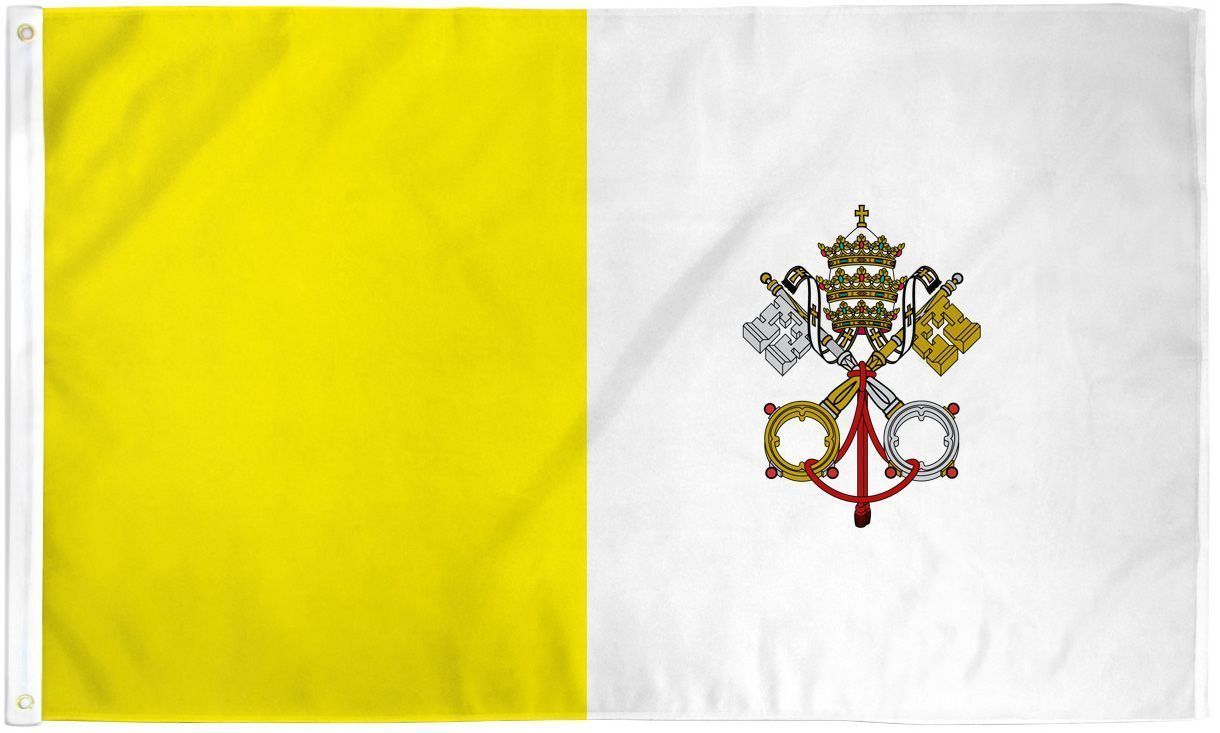 "VATICAN CITY 3X5' FLAG NEW 3'X5' 3 X 5 FT 36X60"" PAPAL CATHOLIC"