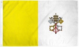"VATICAN CITY 3X5' FLAG NEW 3'X5' 3 X 5 FT 36X60"" PAPAL CATHOLIC - $9.85"