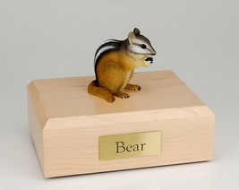 Chipmunk Figurine Wildlife Cremation Urn Available in 3 Diff. Colors & 4... - $169.99+