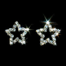 Sparkling Crystal Rhinestone Star Shaped Post Earrings - $15.00
