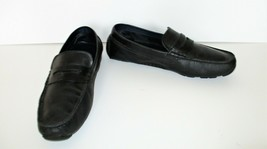 Cole Haan Driving Moccasins Loafers Shoes 9 1/2M Men black leather - $44.54
