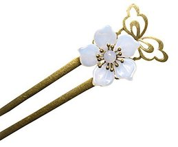 White Floret Hairpin Hair Jewelry Hair Pieces Hair Styling Retro Palace Headdres