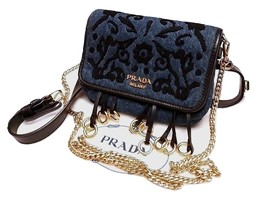 Authentic Prada Women's Belt Fanny Pack Embroidery Cross Body - $645.00