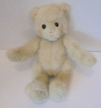 "Vintage GUND 1986 Blond Jointed Bear wool type hair 12"" high - $11.85"