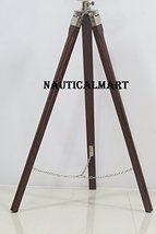 NauticalMart Teak Wood Tripod Stand In Brown For Designer Small Searchli... - $99.21