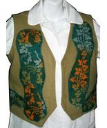 Batik Leaves Vest - women's size 8 - $25.00