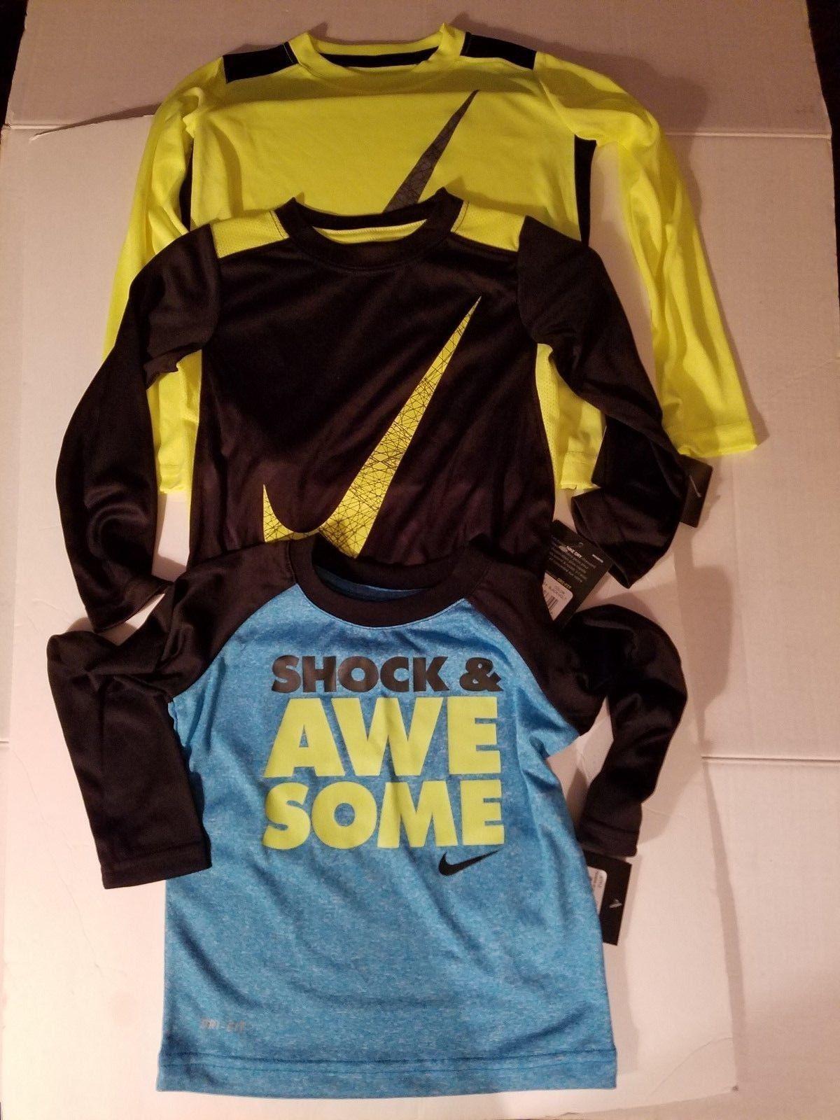 4ad19d969d 57. 57. Previous. Nike Toddler Boys Dri Fit Long Sleeve Shirts Size 2T 4T  NWT. Nike Toddler Boys Dri ...