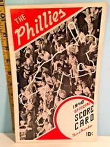 1940 Philadelphia Phillies Baseball Program vs St. Louis Cardinals Unscored - $39.11
