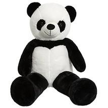 iBonny Giant Panda Teddy Bear Stuffed Animal Classic White and Black Sof... - $37.22