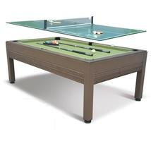 Outdoor Pool Table Billiards Tennis 7 Foot Combo Cloth Balls Game Room D... - $999.99
