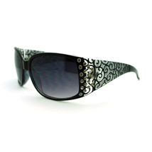 Womens Diva Fashion Thick Temple Rectangular Rhinestone Plastic Sunglasses - $7.95