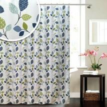 Blue Canyon Botanic Leaf Shower Curtain 180cm x 180cm - $32.94