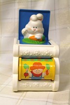 Vintage 1989 Fisher Price Jack in the Box Pop Up Musical Bunny Toy  - $14.87