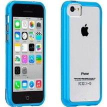 Case-Mate Naked Tough Hard Snap Case Cover for iPhone 5C Clear/Blue Bump... - $12.00