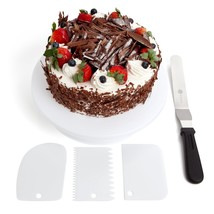 "Benir 11"" Rotating Cake Turntable Decoration Kit w/Cake Stand, 12.7"" Ang... - $15.41"