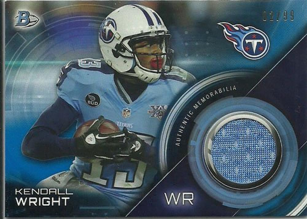 Primary image for 2015 Bowman Draft Relics Blue #BR-KW Kendall Wright NM-MT MEM 2/99 Titans