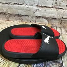 Puma Kids Black and Red Slides Sandals Size 1 - $18.46