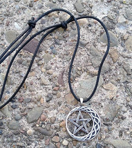 Stability Pentagram Amulet Pendant Necklace     - $8.99