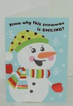Hallmark XV 600 1 Smiling Snowman Christmas Card Package 4 image 2