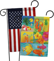 Tropical Collage - Impressions Decorative USA - Applique Garden Flags Pa... - $30.97