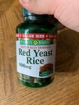 Natures Bounty Red Yeast Rice 600 MG 120 Capsules - $19.68